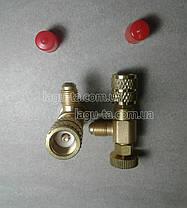 Переходник - нажималка для заправки кондиционеров работающих на R410a. 5/16×1/4., фото 3