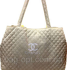 Сумка женская стеганая бежевая Chanel