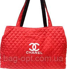 Сумка женская стеганая коралловая Chanel