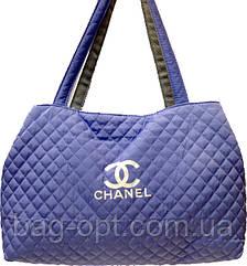 Сумка женская стеганая лиловая Chanel
