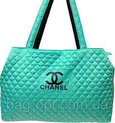 Сумка женская стеганая бирюзовая Chanel