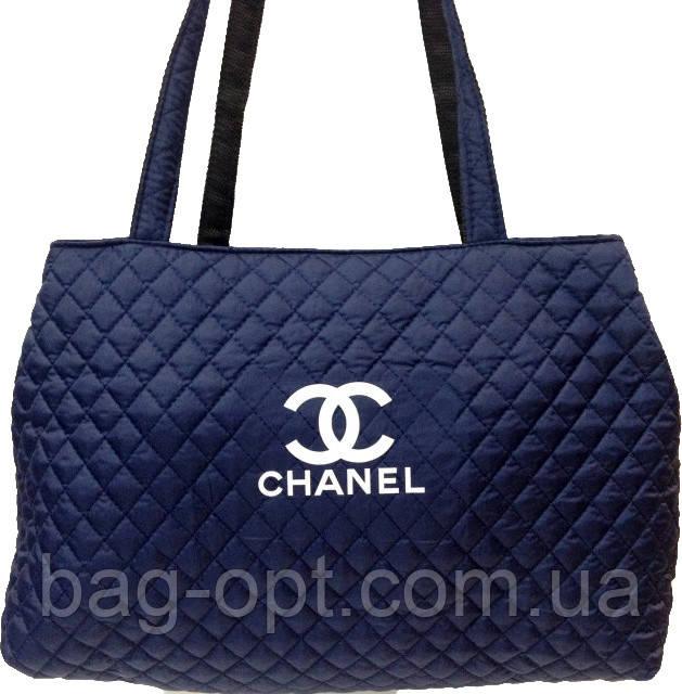 Сумка жіноча стьобана темно-синій Chanel