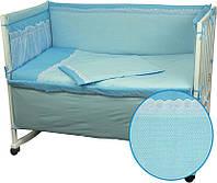 Постельный комплект в детскую кроватку (бортик, пододеяльник, наволочка, простынь) ТМ Руно 977КУ