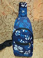 Барсетка NIKE слинг на грудь/Cумка спортивные мессенджер для через плечо(только ОПТ) , фото 1