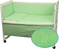 Постельный комплект Мишка в детскую кроватку (бортик, пододеяльник, наволочка, простынь) ТМ Руно 977ВУ