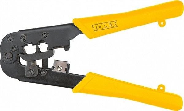 Клещи для обжима телефонных наконечников 6P, 8P, TOPEX  32D408