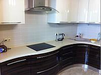 Кухни с фасадами из шпона Киев, мебель из натурального шпона на заказ, цена, фото, фото 1