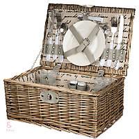 Плетеная корзина для пикника на 2 персоны