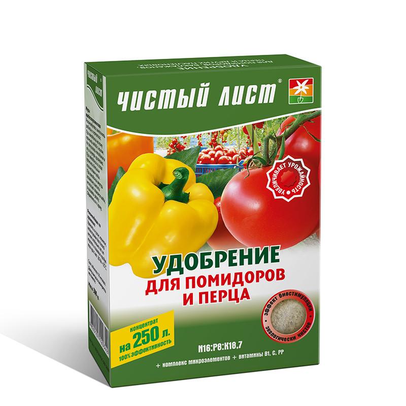 Удобрение для помидоров и перца Чистый Лист, 300г