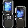 Металлический телефон Nokia 8800 Black, 2 SIM, MP3/MP4, FM.