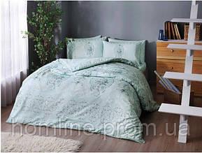 Постельное белье Tac ранфорс Briana turkuaz бирюзовый семейное