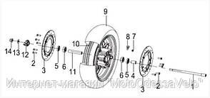 Диск колесный, легкосплавный передний SilverBlade 250i