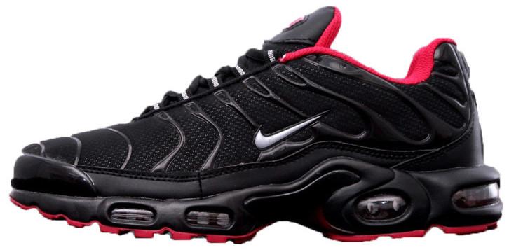 Мужские Кроссовки Nike Air Max Tn Plus  Black Red  (Найк Аир Макс Тн) Черно- красные — в Категории