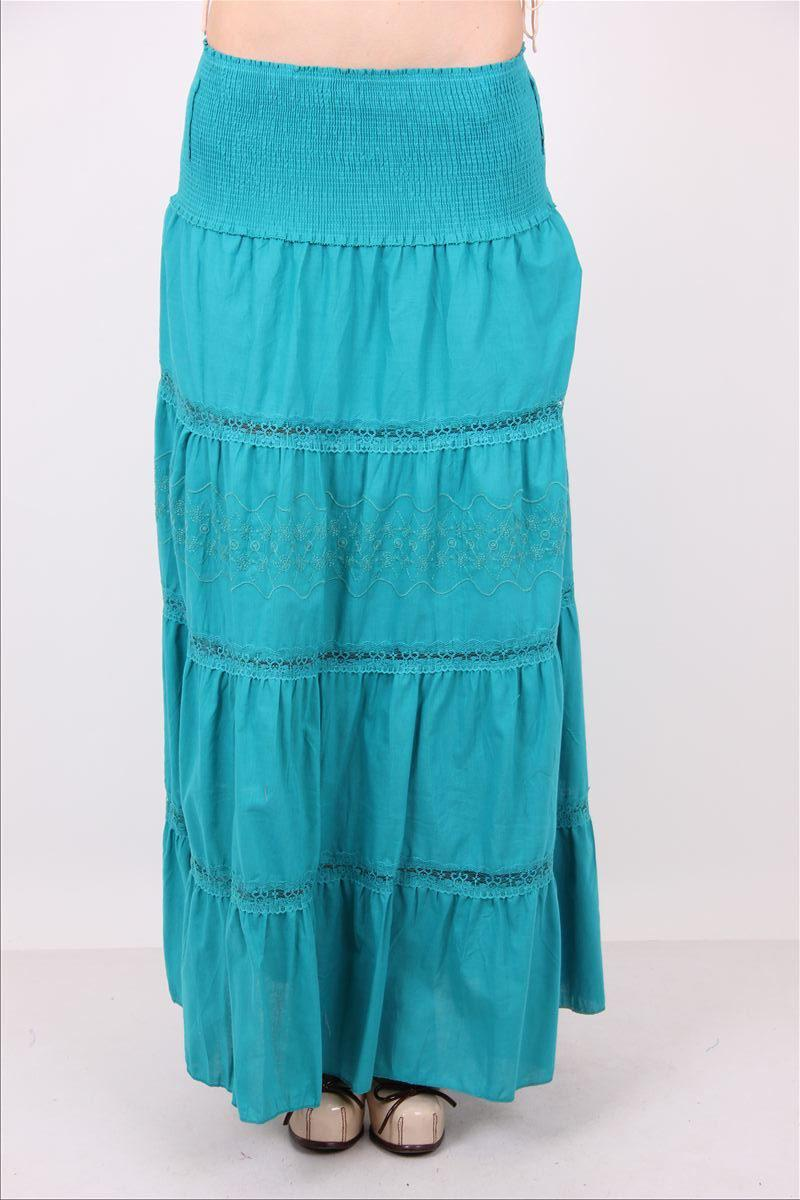 Многоярусная женская юбка