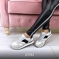 Кроссовки =Filter=, экозамш+обувной текстиль, подошва 2 см, очень удобные. маломерят р-р 36-40 цвет: Серый+Бел