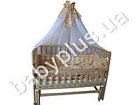 Комплект в детскую кроватку 7 предметов Сладкие сны, Зебра, цвет бежевый