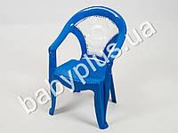 Кресло детское со вставкой №1, цвет голубой