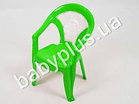Кресло детское со вставкой №1, цвет салатовый