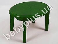 Стол детский 610х750 (овальный), цвет зеленый