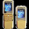 Металлический телефон Nokia 8800 Gold, 2 SIM, MP3/MP4, FM.