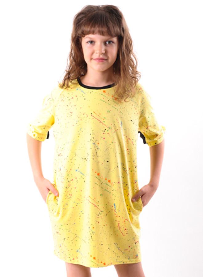 202643d0486b1d7 Платье Детское для Девочки Летнее Желтое от 8 до 10 Лет(128;134;140 ...
