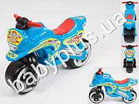 Каталка спортивный мотоцикл. Цвет голубой