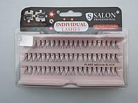 Ресницы Salon professional пучковые, средние (medium)