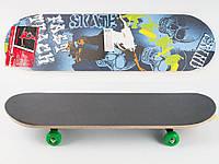 Скейт 70,5-20см, пласт.подвеска, колеса ПВХ, 7 слоев, 6 видов, 608Z, разобр,доска в кульке