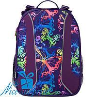 Женский ортопедический рюкзак Kite Neon butterfly K17-703M-1 (5-9 класс)