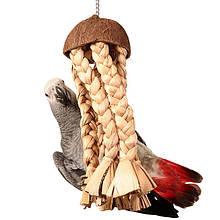 Іграшки для папуг з натуральних матеріалів