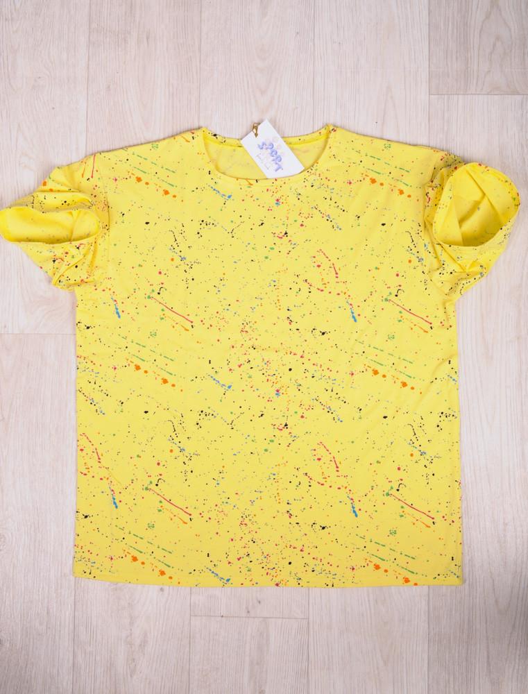 Футболка мужская желтая размеры 46-54