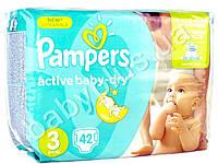 """Подгузники Pampers """"Active Baby-Dry Midi"""" (5-9 кг) 42шт"""