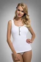Женская майка на бретелях белого цвета, модель Aniela Eldar