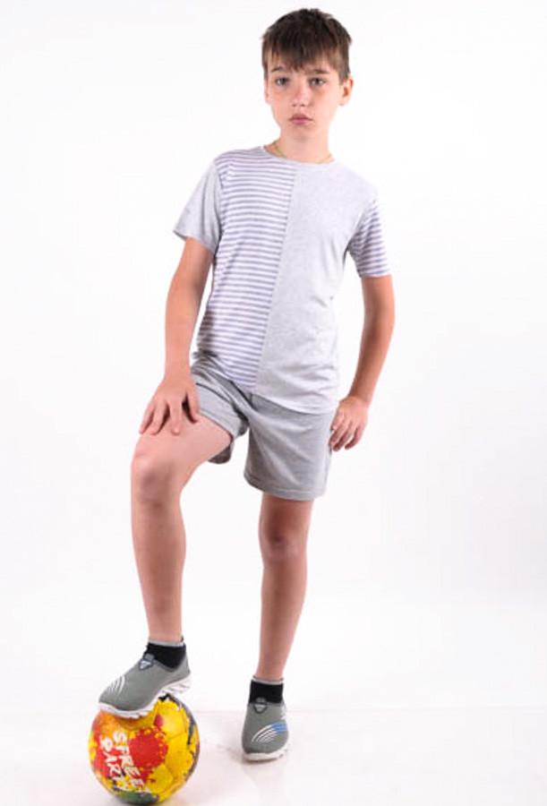 Летний костюм  для мальчика  с шортами от 6 до 10 лет (116; 122;128;134;140)