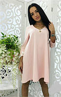Платье с бантом на рукаве  костр7790