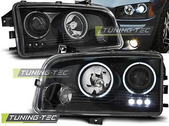 Передние фары тюнинг оптика Dodge Charger LX