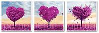 DIY Babylon Картины по номерам Триптих Деревья любви VPT024 50х150 см
