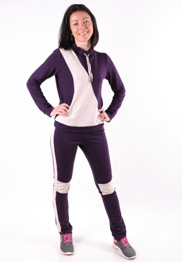 Женский спортивый костюм  фиолет с лампасами MilaVa  размер 40-46