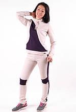 Женский спортивый костюм  с лампасами MilaVa бежевый размер 40-46