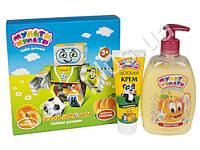 Набор подарочный Мульти-Пульти Робот (Крем мыло 330г+Крем детский 75мл+раскраска)