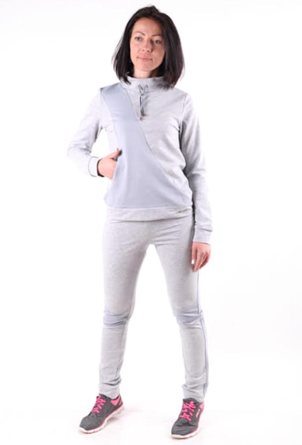 Женский спортивый костюм с лампасами MilaVa серый размер 40-46