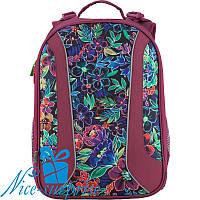 Рюкзак для девочки с ортопедической спинкой Kite Flowery K18-703M-2
