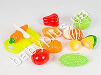 Овощи, на липучке, досточка, нож, в кульке