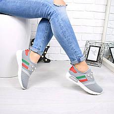 """Кроссовки, кеды, мокасины женские серые """"Spice"""" текстиль, спортивная, летняя, повседневная женская обувь, фото 2"""