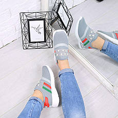 """Кроссовки, кеды, мокасины женские серые """"Spice"""" текстиль, спортивная, летняя, повседневная женская обувь, фото 3"""