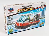 Конструктор GBL Пожарное судно на возд.подушке, фигурка, 121дет, в кор-ке