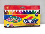 Восковые мелки 24 цвета Colorino (13895PTR), фото 2