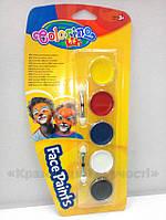 Краски для лица 5 цветов Colorino (15950PTR), фото 1