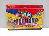 Клей с блестками Rainbow 10 цветов, Colorino (34203PTR), фото 5
