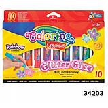 Клей с блестками Rainbow 10 цветов, Colorino (34203PTR), фото 7